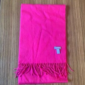 berry red cashmere scarf